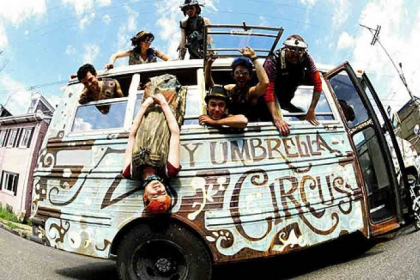 Zany Umbrella Circus is celebrating its 10th anniversary with performances of &quot;Cake&quot; at Market Square this weekend.
