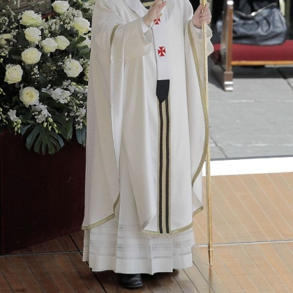 Pope Francis celebrates his installation Mass in St. Peter's Square at the Vatican Tuesday.