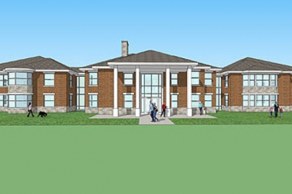 Western Pennsylvania School for the Deaf in Edgewood is planning to demolish its 50-year-old boys' dormitory to make way for a new facility, shown here. Students will be grouped by age, and genders will alternate by floor.