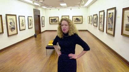"The late Josienne Piller is shown in the John James Audubon ""Birds of America"" show in 2003 when she was director of the University Art Gallery, University of Pittsburgh."