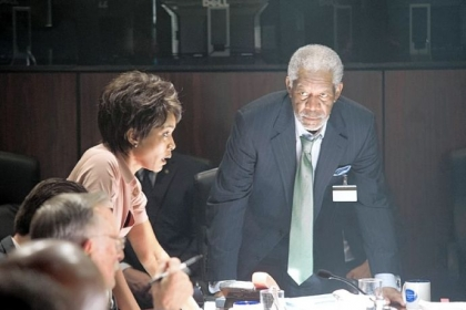 "Angela Bassett and Morgan Freeman star in ""Olympus Has Fallen."""