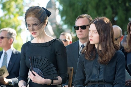 "Nicole Kidman as Evie and Mia Wasikowska as India in ""Stoker."""