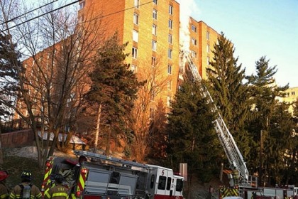 Firefighters were on the scene at a high-rise apartment building on Bayard Street in Shadyside. One person died in the fire.