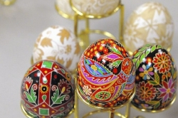 Ancient Ukrainian tradition transforms eggs into intricate masterpieces