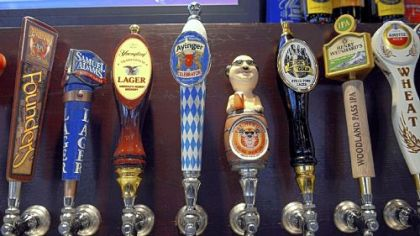 Thirty-three beers are available on tap at Roman Bistro in Forest Hills.