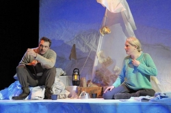 Stage review: Set of 'Antarktikos' helps play explore a cold stage of life