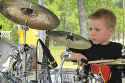Six-year-old Washington, Pa., drummer Avery Molek will play live on 'Good Morning America' with Brad Paisley