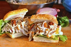 What's for Dinner: Delta-Style Chicken Salad with Peach Mayo and Spiced Pecans